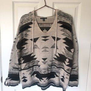 American Eagle Aztec Hooded Sweater